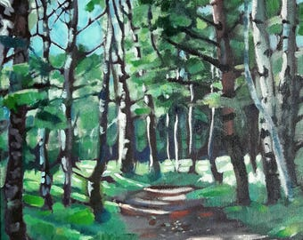 Into the woods - original acrylic painting