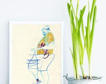 Original artwork, Original sketch, original drawing, Graphite drawing, Pencil sketch, Unique graphic art, Original art, Pencil drawing