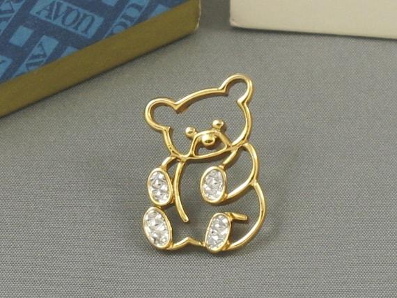 Vintage AVON 'Animal Pins Teddy Bear' Tac Pin 1980