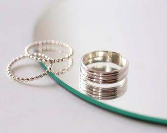 Beaded Wire Stacking Ring