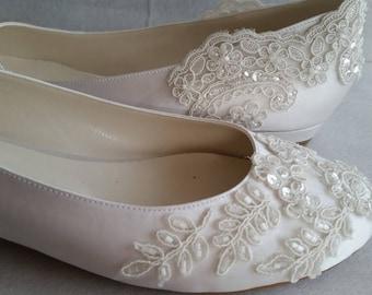 Flat wedding shoes etsy junglespirit Choice Image