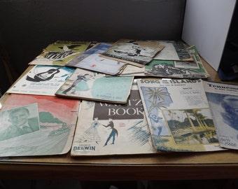 Lot of Vintage Sheet Music