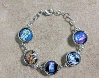 Reversible Doctor Who bracelet - Dr. Who - charm bracelet