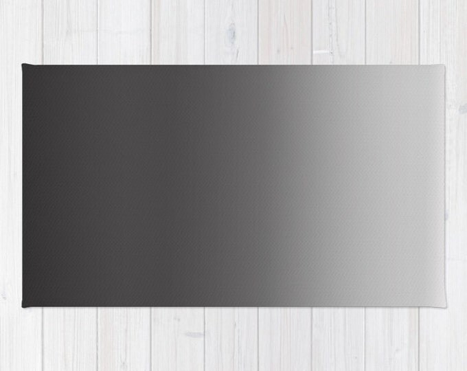 Black to Gray Ombre Floor rug - Room Rug - Bathroom Decor - Throw Rug - Made to Order