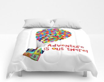 Disney's Up! Comforter, Adventure is Out There Comforter, Up! Blanket,  Disney Comforter, Pixar Comforter, Up! Coverlet