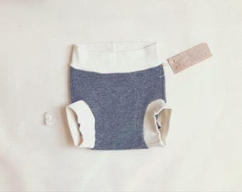 Large 'Storm' Wool Soaker Diaper Cover // Wool Diaper Cover // 18 Months - 3+ Years