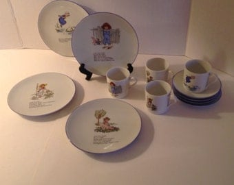 Child's Tea Set by Reutter Porcelain Germany 12 Pieces with Nursery Rhymes Metropolitan Museum of Art