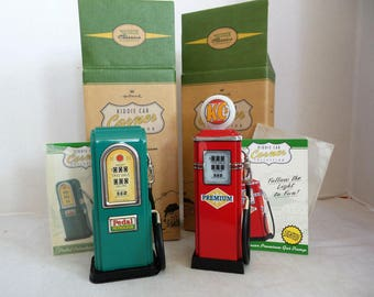 Vintage Hallmark Kiddie Corner Collection Gas Pumps