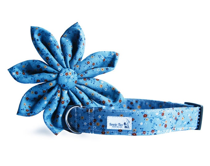 Blue Blossoms Flower and Collar