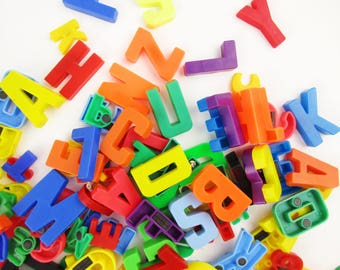 over 150 plastic magnetic letters and numbers in two sizes perfect for refrigerator decorating signs messages