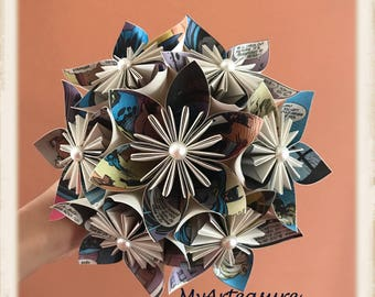 Comic Paper Bouquet.