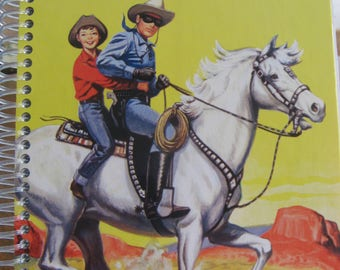 The Lone Ranger Golden Book with 60 blank pages for writing.