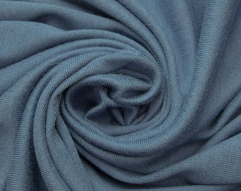 Slate Blue 56'' Heavy-Weight  Cotton Baby Rib Knit Fabric By the Yard 3119