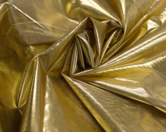 "Gold 60"" Light-Weight Tissue Lame Fabric by the Yard - Style 3053"
