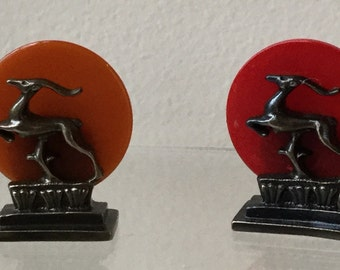 Dollhouse Miniature Joseph Addotta Art Deco Leaping Gazelle Statue (NM)