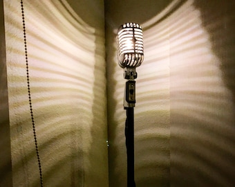 VINTAGE Style Gold Microphone Lamp