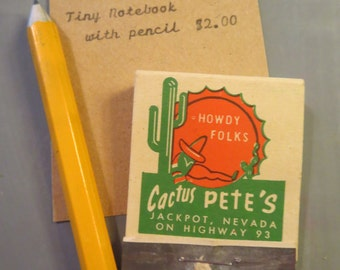 Tiny Matchbook Notebook with Cactus Jack image