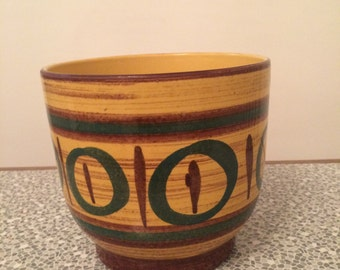 Retro ceramic plant pot
