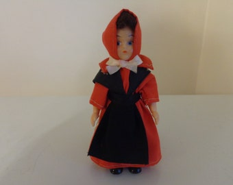Vintage Amish Doll, 1960's - Amish Girl Doll - Amish Souvenir Doll - Plastic Amish Doll - Amish Collectible