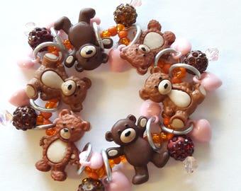 Teddy bear bracelet/Beadiebracelet