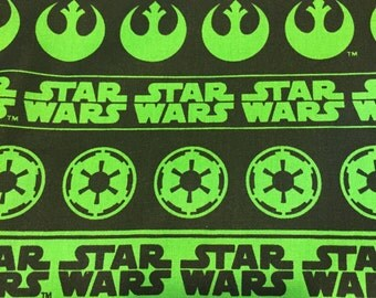 Star Wars Fabric (Lime Green) By The Yard