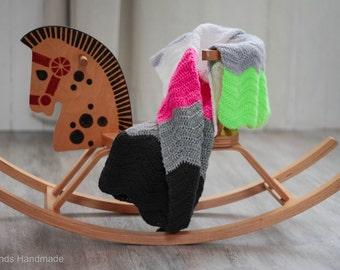Multicolor crochet baby blanket