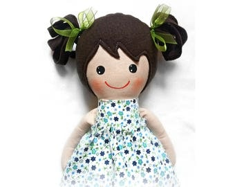 Handmade cloth doll, Dress up rag doll for kids, Fabric doll, Soft doll, Gift for her, Cute doll, Birthday gift for girls, Heirloom doll