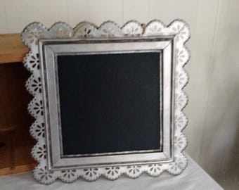 metal chalk board/ Wall Hanging shabby chic, boho.french country, cottage