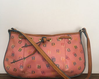 Dooney and Bourke Pink Jellied Leather Shoulder Bag