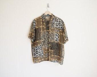 Vintage Leopard Blouse