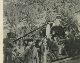 Katharine Hepburn Trigger movie making antique photo