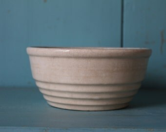 Small Ironstone Bowl, with Ribbed Detail