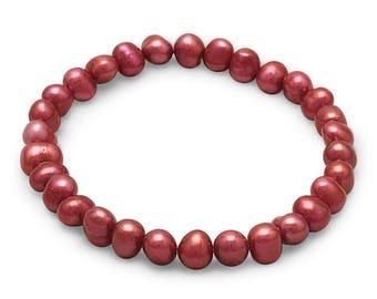 TEXAS TECH Slip On Pearl Bracelet Set of Three