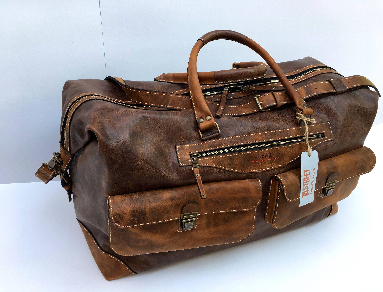 Travel Bag, Large Handmade Travel Bag, Business travel Bag ...