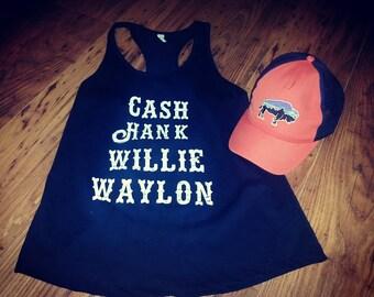 Cash Hank Willie Waylon