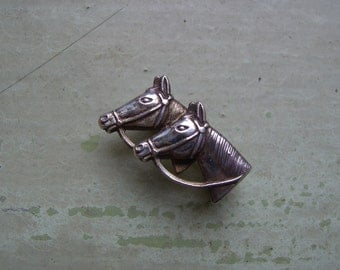 A Vintage Silver Horse Pin/Brooch - Equine - Sterling Silver.