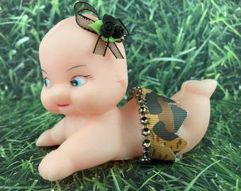 Baby Boy or Girl Leopard Theme Cupid Doll Cake Decoration Favor Gift Ideas