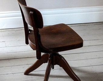 1930s Planners Desk Chair / Office Chair
