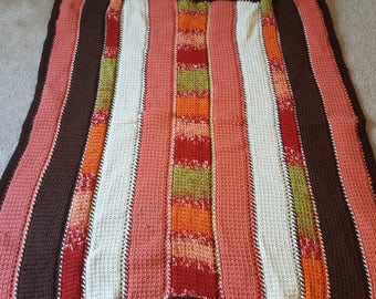 Small Lap Blanket Afghan, retro, 1970s