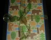 The Great Outdoors Baby Folio-Mini Album II- Handmade Scrapbook-Baby Boy or Girl Baby Book Large