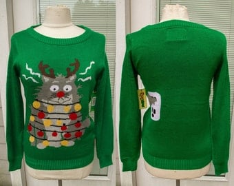 ALEX STEVENS Ugly Christmas Sweater Slothy Sloth red Men's Size Large