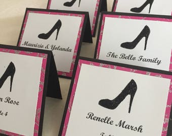 High heel place cards set of 50