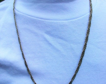 Vintage 925 Sterling Silver Textured Chain Necklace
