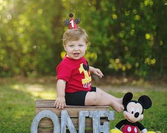 Mickey Mouse Party Hat    Mickey Mouse Party Hat    1st Birthday Party Hat    Mickey Mouse Ears    Minnie Mouse Ears    Disney