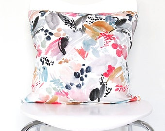Magenta Splash - Throw Pillow
