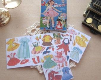 dollhouse Jo Ann   paper doll book miniature 12th scale vintage