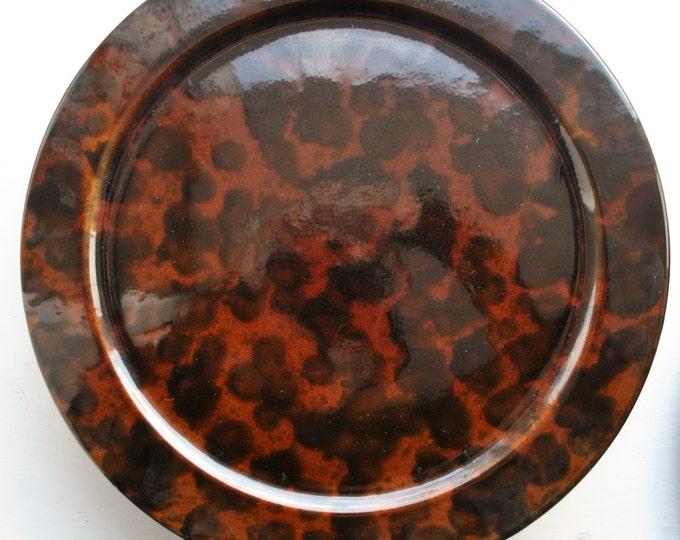 Mid Century Modern Waechtersbach Marble Sienna Plates 1970's