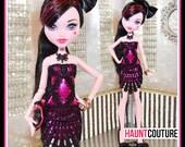 """Monster Doll Haunt Couture: """"Bubblegum Lace"""" mini dress high fashion dress clothes"""