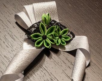 Clover Green Prom Wristlets - Wedding Corsage - wedding wristlets