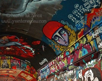 London Leake Street Graffiti Tunnel - Wall Decor - Fine Art Photography Print - Banksy Waterloo Station Urban Contemporary